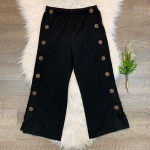 Soft Surroundings Newport Beach Pants Button Wide